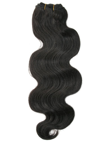 I&K Body Wave Weave Human Hair Extensions #1B-Natural Black 22 inch