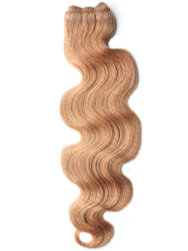 I&K Body Wave Weave Human Hair Extensions #27-Strawberry Blonde 22 inch