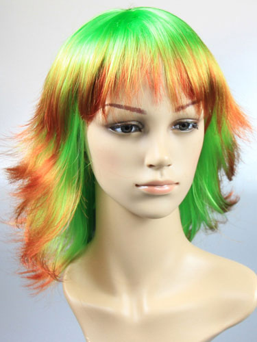 I&K Party Wig Double Colour #Double Green