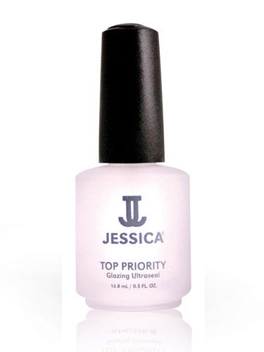 Jessica Top Priority Glazing Ultraseal Topcoat (0.5oz)