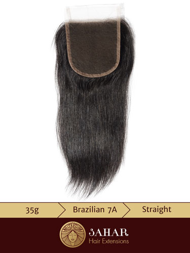 Virgin Brazilian Lace Top Closure - Straight Free Part [7A] (35g)