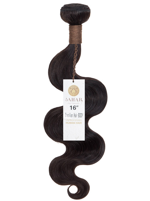 Sahar Unprocessed Brazilian Weft Hair Extensions 100g – Body Wave