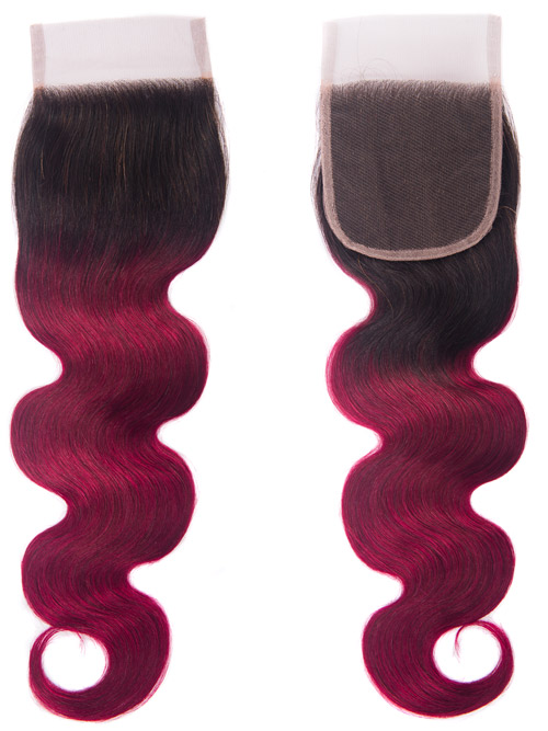 Sahar Essential Unprocessed Brazilian Virgin Top Lace Closure 4 inch X 4 inch - Body Wave