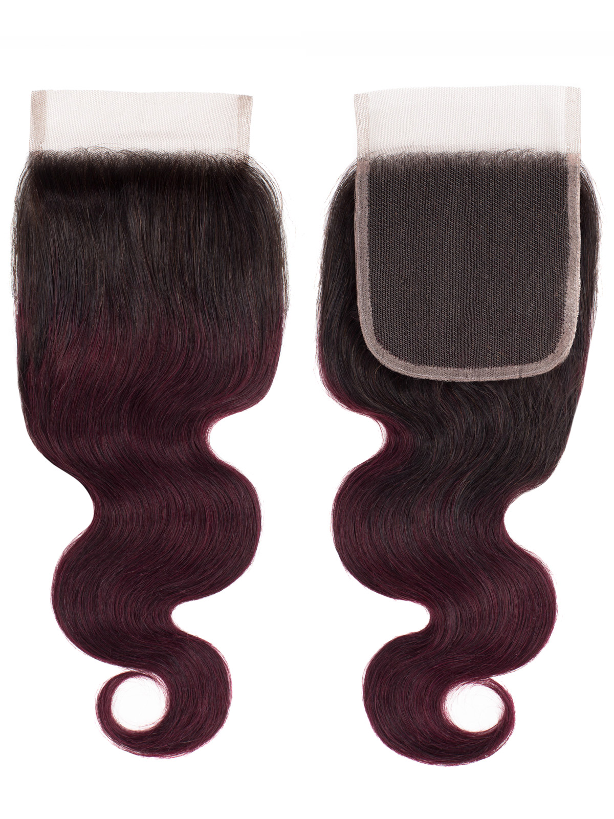 Sahar Essential Unprocessed Brazilian Top Lace Closure 4 inch X 4 inch - Body Wave