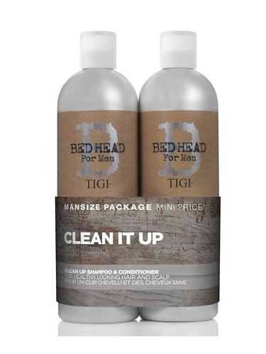 TIGI Bed Head For Men Clean Up Shampoo & Conditioner 750ml Twinpack