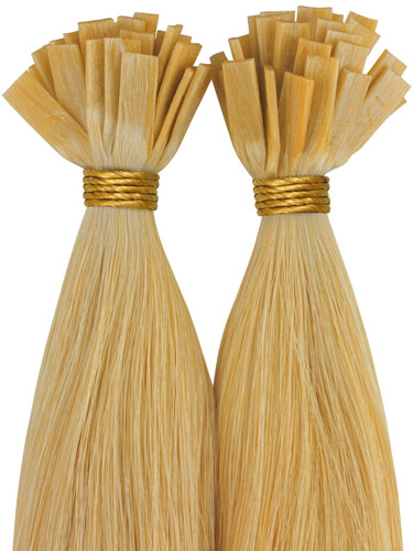 VLII Pre Bonded Flat Tip Remy Hair Extensions #22-Medium Blonde 18 inch