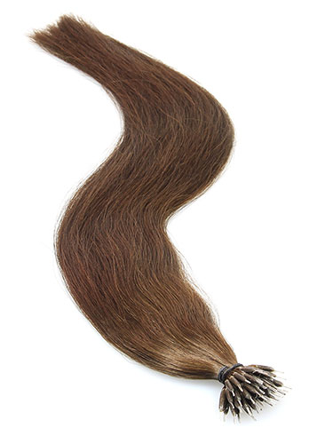 VL Pre Bonded Nano Tip Remy Hair Extensions #4-Chocolate Brown 14 inch
