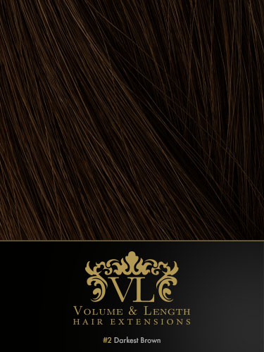 VLII Weft / Weave Remy Hair Extensions #2-Darkest Brown 16 inch 100g