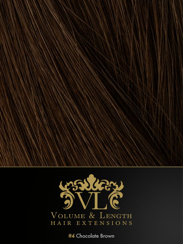 VLII Weft / Weave Remy Hair Extensions #4-Chocolate Brown 16 inch 100g