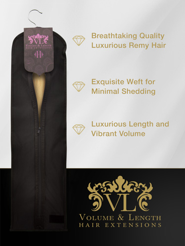 VLII Weft / Weave Remy Hair Extensions #24-Light Blonde 16 inch 100g