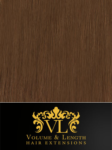 VL Remy Weft Human Hair Extensions #8-Light Brown 14 inch 100g