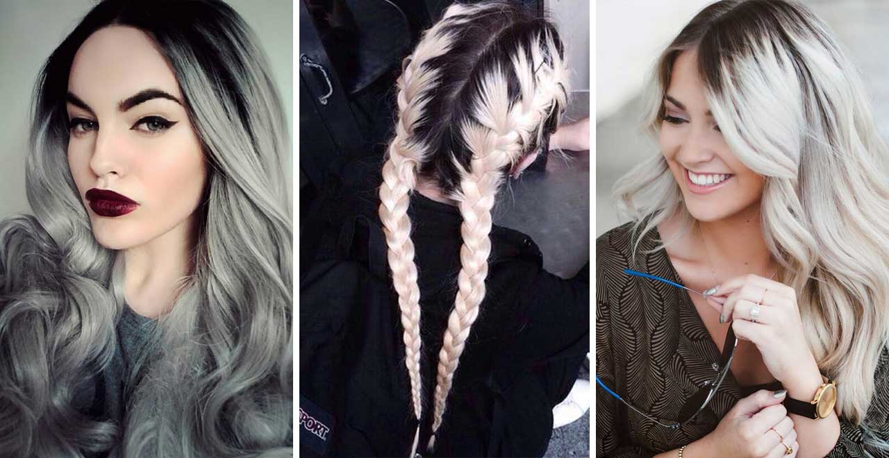 Black roots for silver hair