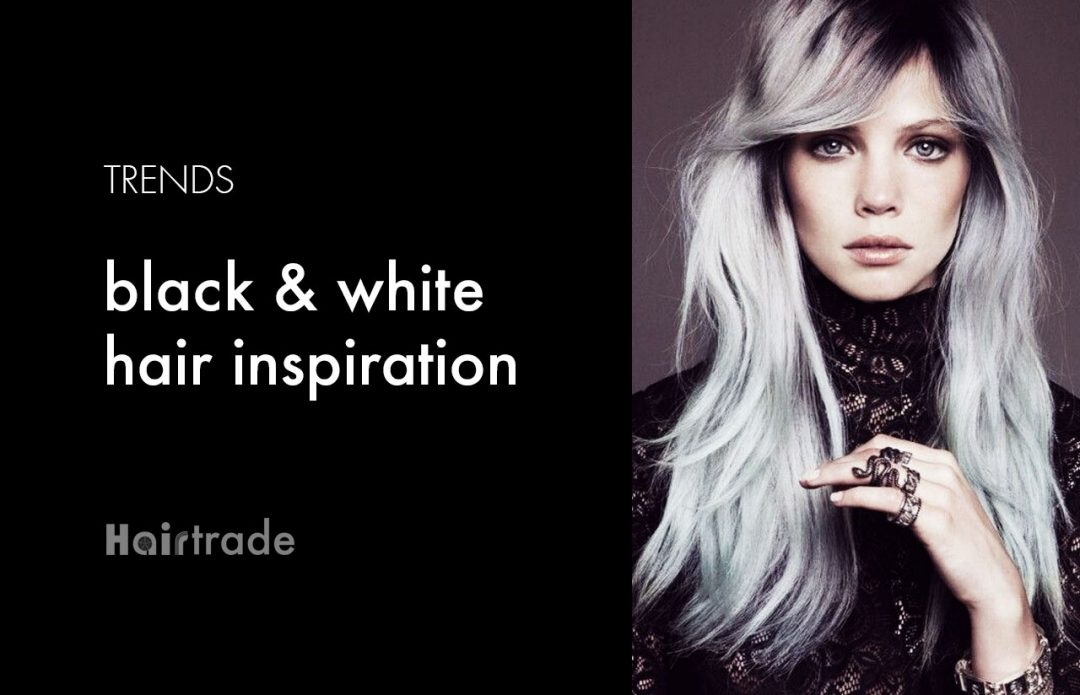 black and white hair trends