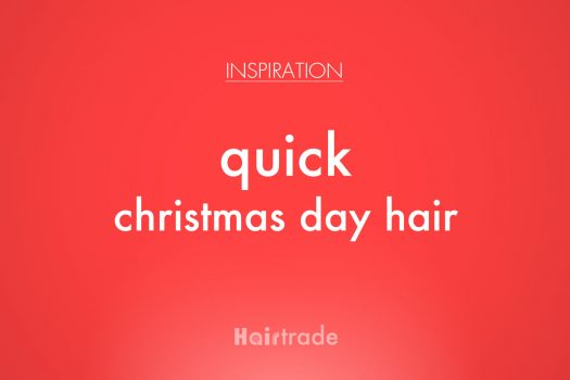 Quick Christmas Day Hair