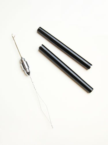 Double Heads Metal Needle Pen-Black