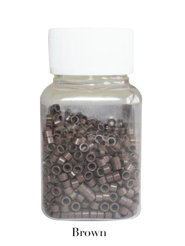 Micro Rings 100 pcs Brown