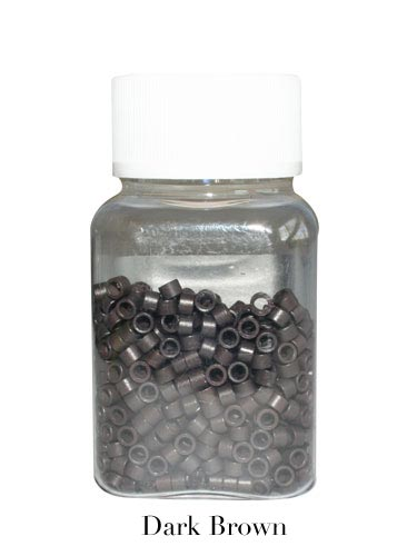 Micro Rings 100 pcs Dark Brown