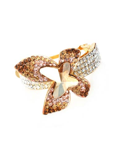 Hair Barrettes -  Geometric Butterfly( Yellow)