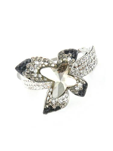 Hair Barrettes -  Geometric  Butterfly ( Black)