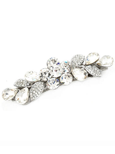 Hair Barrettes -  Crystal Geometry(White)