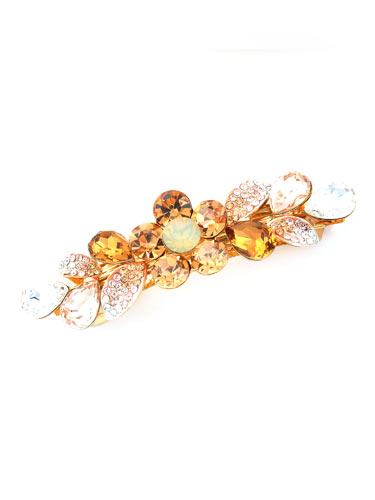 Hair Barrettes -  Crystal Geometry(Yellow)
