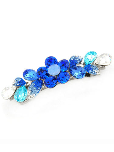 Hair Barrettes -  Crystal Geometry(Blue)