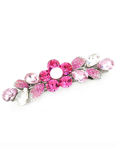 Hair Barrettes -  Crystal Geometry(Pink)