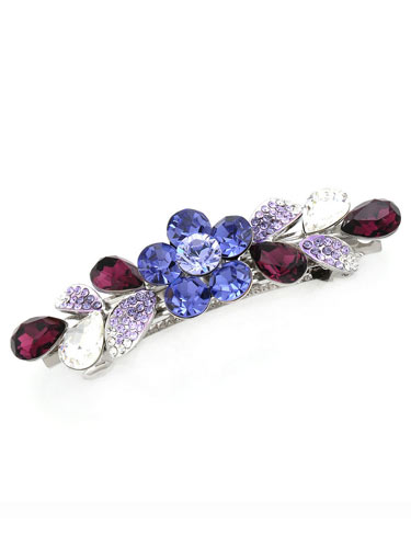 Hair Barrettes -  Crystal Geometry(Purple)