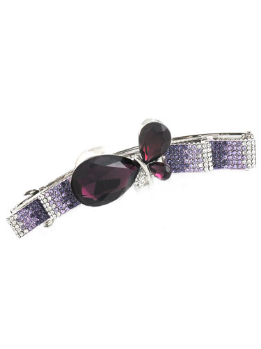 Hair Barrettes -  Diamond(Purple)
