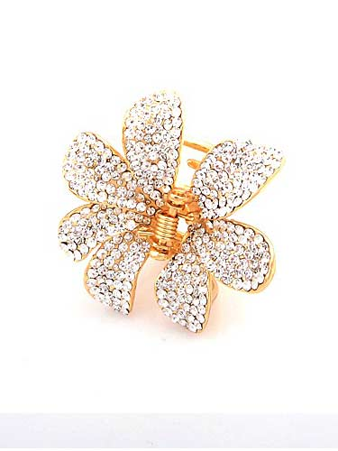Hair Claw Clips - Flower (Silver and Gold)