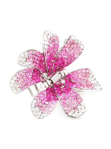 Hair Claw Clips - Flower (Pink)