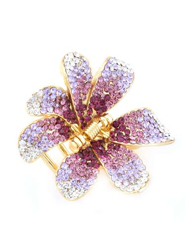 Hair Claw Clips - Flower (Purple)