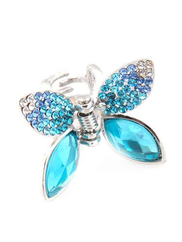 Hair Claw Clips - Small Butterfly (Aqua)