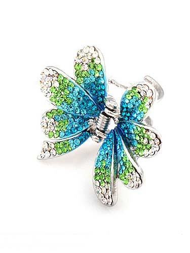 Hair Claw Clips - Flower (Aqua)