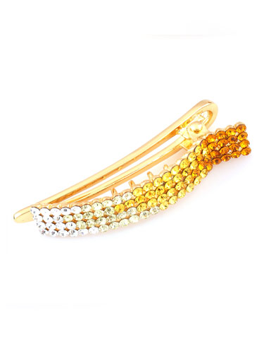 Hair Clips - Gold to White