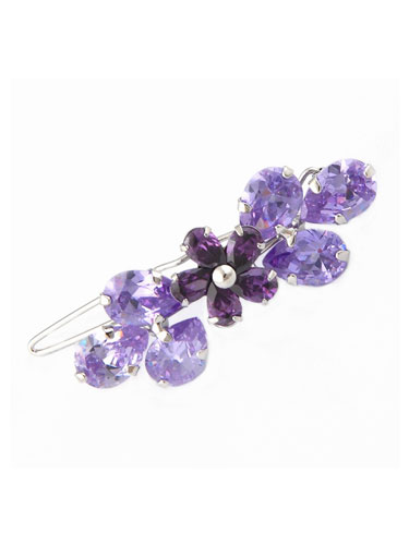 Hair Clips - Purple Flower