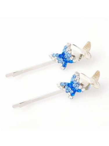 Hair Slides - Blue Butterfly