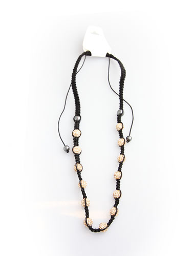 Crystal Bead Necklace - White