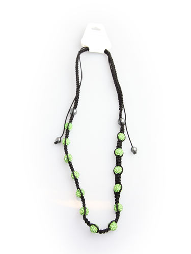 Crystal Bead Necklace - Green