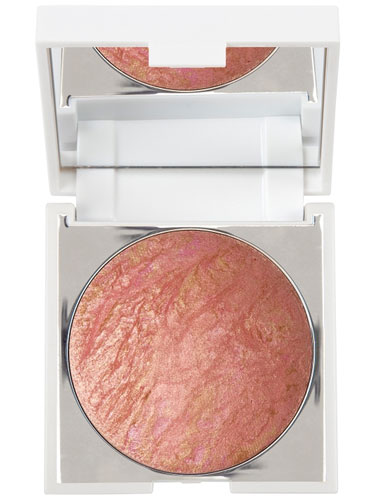 New CID I-Glow Mini Compact Shimmer Powder With Mirror 1.8g - Coral Crush