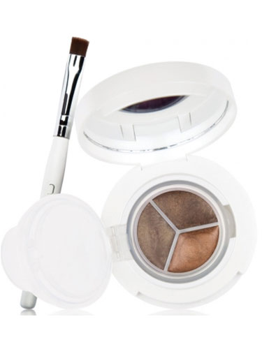 New CID I-Gel Long Wear Gel Eye Liner Trio With Brush - Bronze Copper Stone (0.95g x 3)