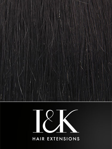 I&K Clip In Human Hair Fringe - Bangs #1-Jet Black