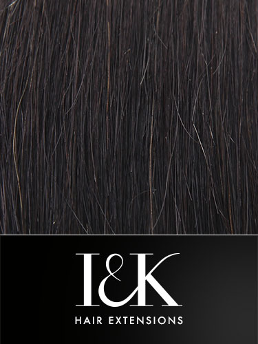 I&K Clip In Human Hair Fringe - Bangs #1B-Natural Black