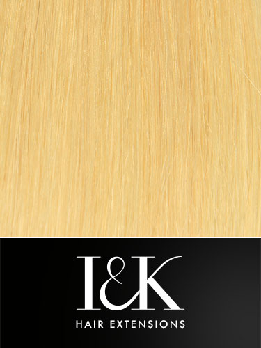 I&K Clip In Human Hair Fringe - Side Swept #24-Light Blonde