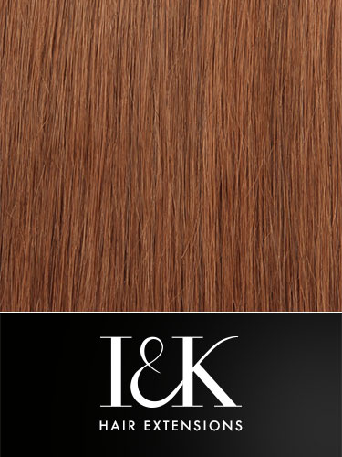 I&K Clip In Human Hair Fringe - Side Swept #30-Auburn