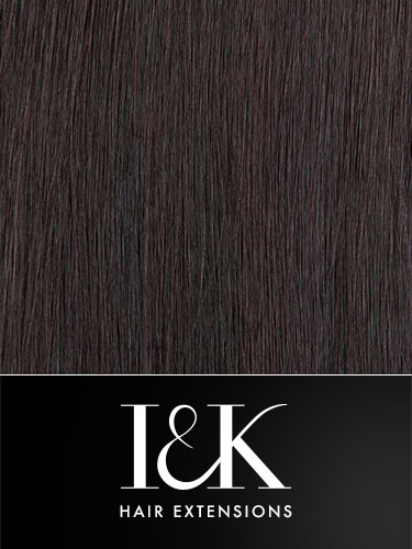 I&K Clip In Human Hair Fringe - Bold & Blunt #32-Dark Reddish Wine