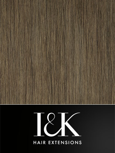 I&K Clip In Human Hair Fringe - Side Swept #5-Dark Ash Brown