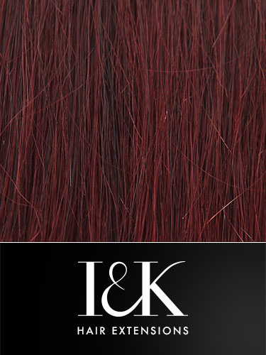 I&K Clip In Human Hair Fringe - Side Swept #99J-Wine Red