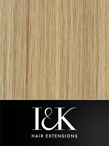 I&K Clip In Human Hair Fringe - Side Swept #18/22