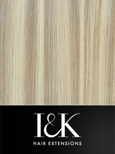 I&K Clip In Human Hair Fringe - Side Swept #18/613
